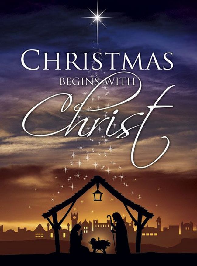 Christmas begin with Christ