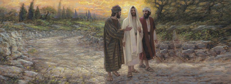 Jesu and Disciples on the Walk to Emmaus